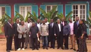 délégation congolaise île de Gorée