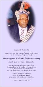 invitation messe mwanangana