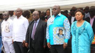 Les membres du Rassemblement lors d'un point de presse le 24/04/2017 à Kinshasa au siège de ce parti UDPS. Radio Okapi/Ph. John Bompengo