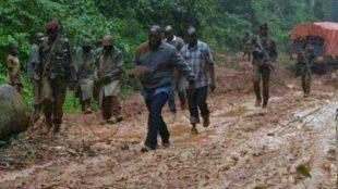 kabila dans la boue de l'Equateur