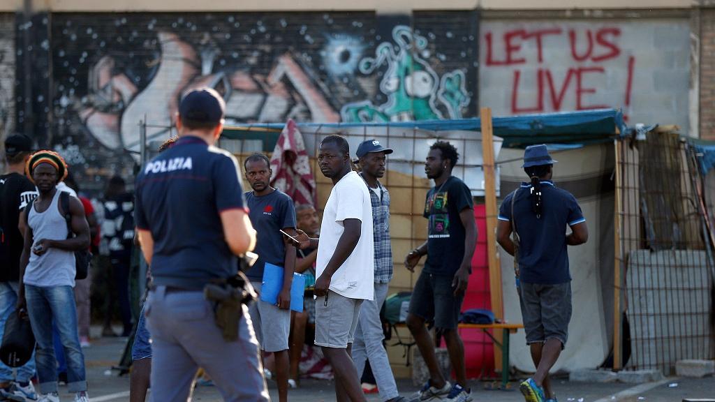 migrants africains en italie