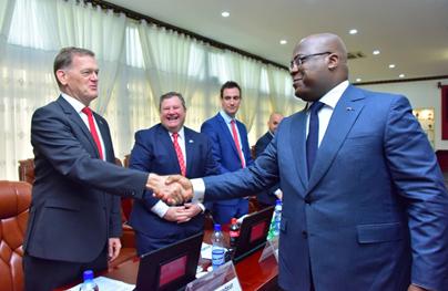 président tshisekedi et les ambassadeurs