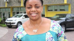 Eva Bazaiba, secrétaire générale du MLC, le 23/03/2017 à Kinshasa. Radio Okapi/Ph. John Bompengo