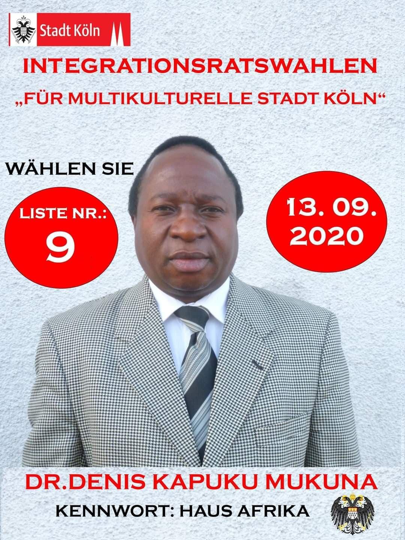 Dr Denis Kapuku Mukuna, candidat au conseil d'intégration à Cologne
